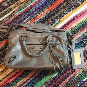 Balenciaga taupe city bag